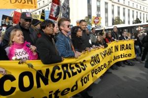 CB and Sean Penn at peace rally